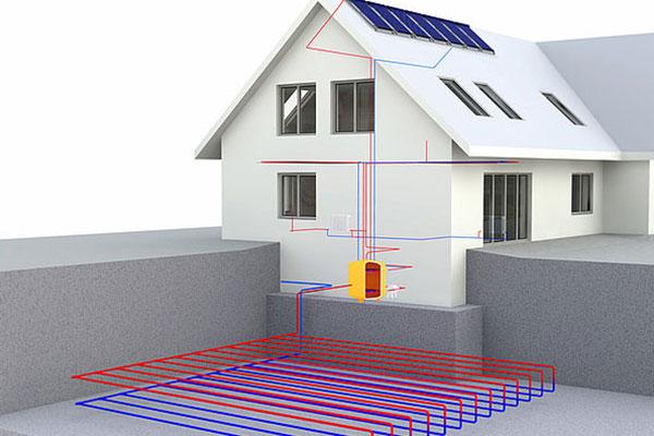 impianto geotermico pompa di calore